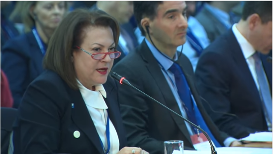 Η Πρόεδρος του ΔΣ του ΣΒΘΚΕ, κα Ελένη Κολιοπούλου στην TRT, στο πλαίσιο του Delphi Economic Forum